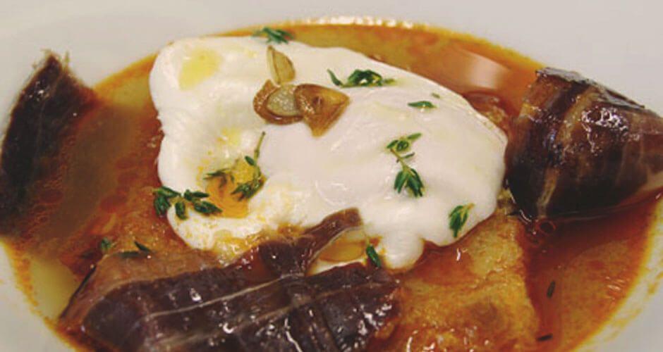 recetas de jamón ibérico sopa de ajo