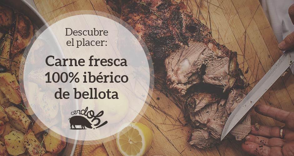 Descubre el placer: Carnes frescas 100% ibéricas de bellota