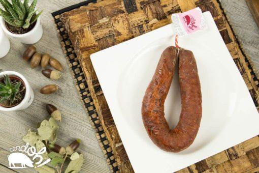 Chorizo ibérico de bellota en formato herradura.