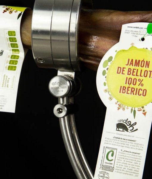 Detalle de etiqueta de Jamón de Bellota 100% Ibérico de Cerdoh!