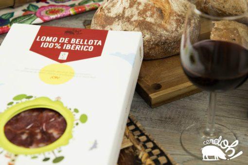 Caja de sobres de Lomo de Bellota 100% Ibérico de Cerdoh!