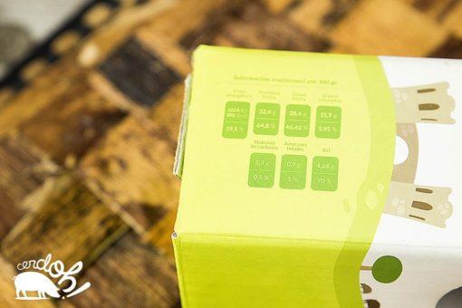 Detalle de los valores nutricionales del Lomo de Bellota 100% Ibérico de Cerdoh!