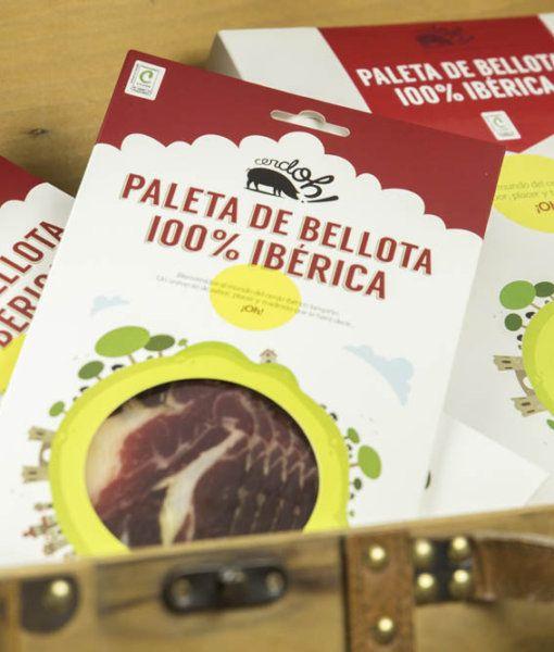 Caja de sobres de Paleta de Bellota 100% Ibérica de Cerdoh!