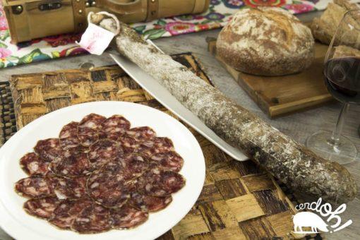 Salchichón ibérico de bellota de Cerdoh! en formato cular