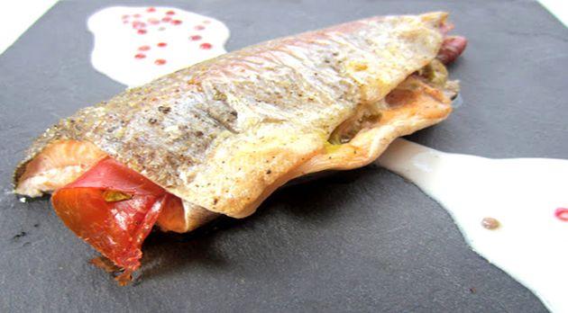 Recetas de trucha con jamón ibérico.
